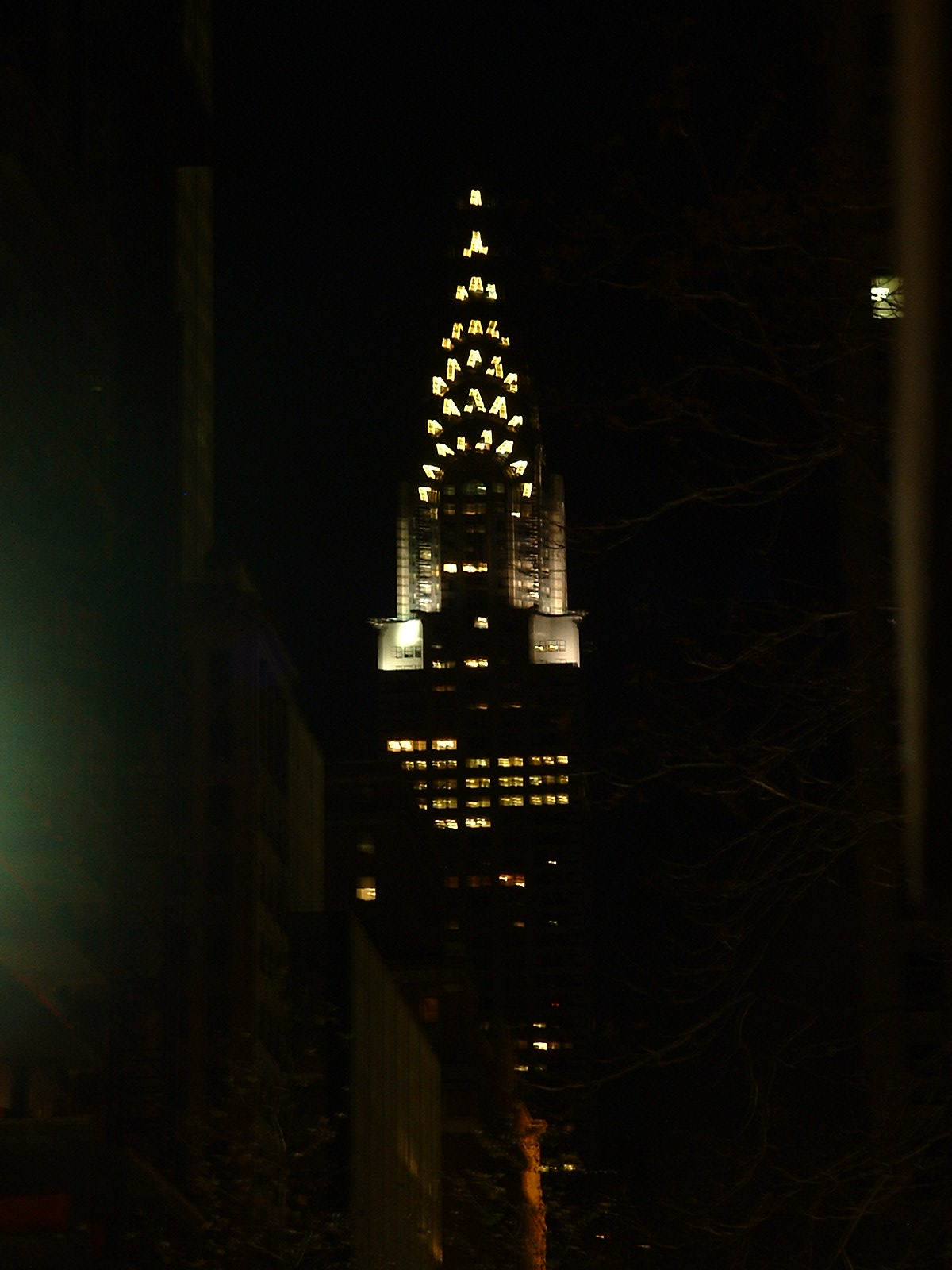 Q3: chrysler building at night